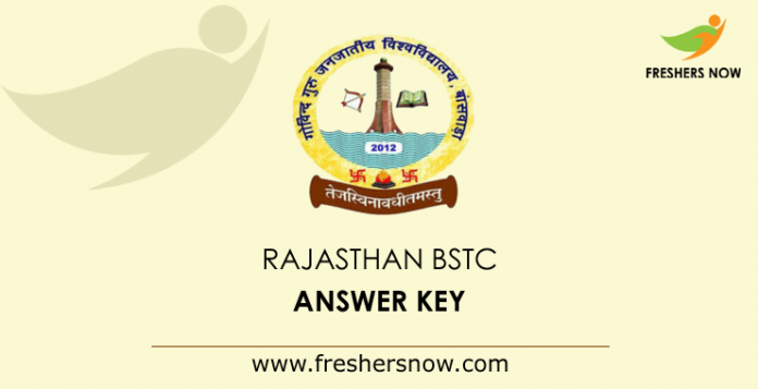 Rajasthan BSTC Answer Key 2019