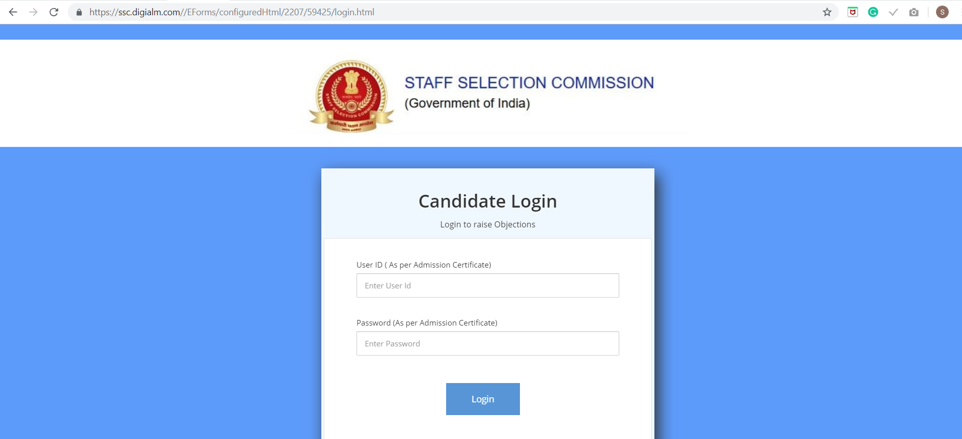 SSC CPO SI ASI Answer Key Raise Objections