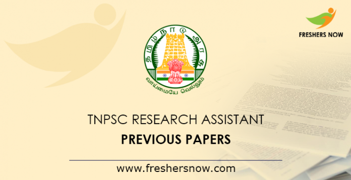 TNPSC-Research-Assistant-Previous-Papers