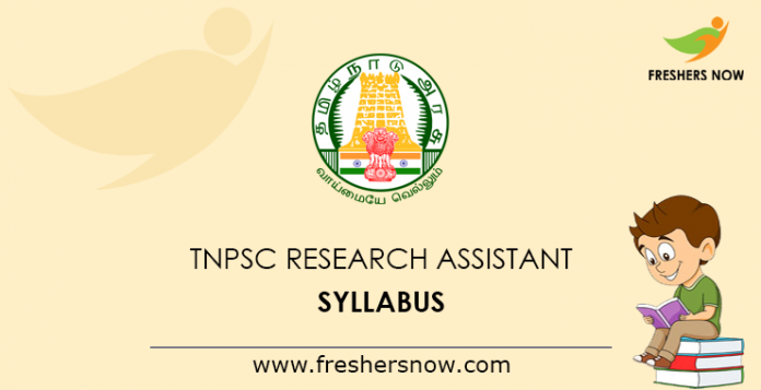 TNPSC-Research-Assistant-Syllabus
