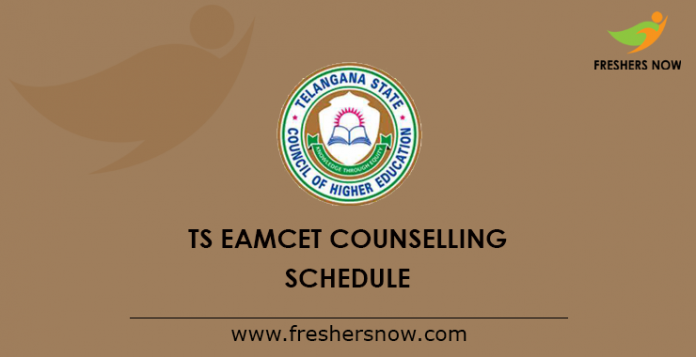 TS EAMCET Counselling 2019 Schedule