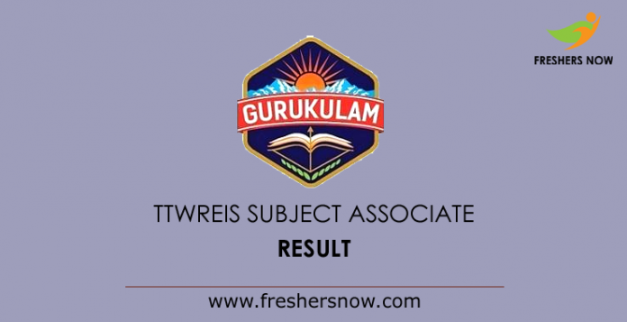 TTWREIS Subject Associate Result 2019