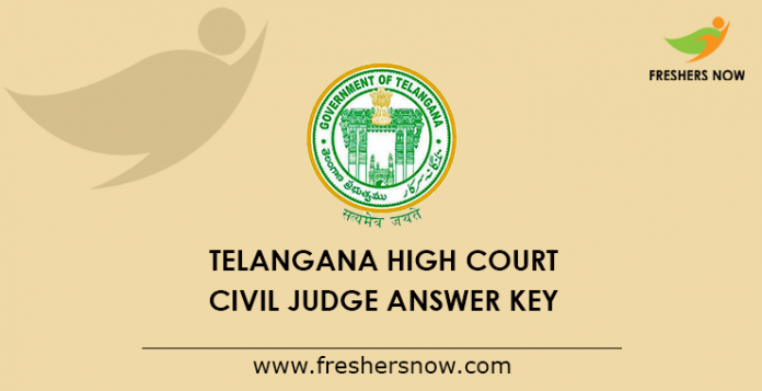 Telangana High Court Civil Judge Answer Key 2019