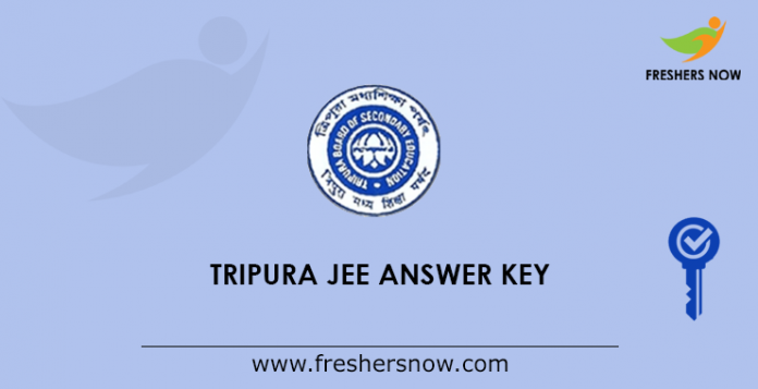 Tripura JEE Answer Key 2019