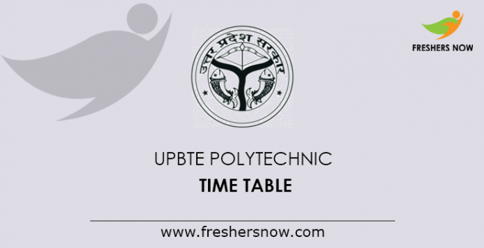 UPBTE Polytechnic Time Table 2019