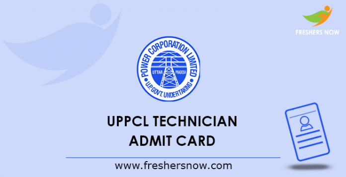 UPPCL Technician Admission Card 2019