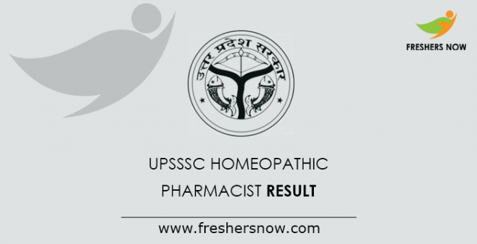 UPSSSC Homeopathic Pharmacist Result 2019