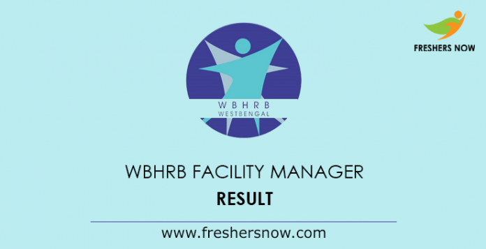 WBHRB Facility Manager Result 2019