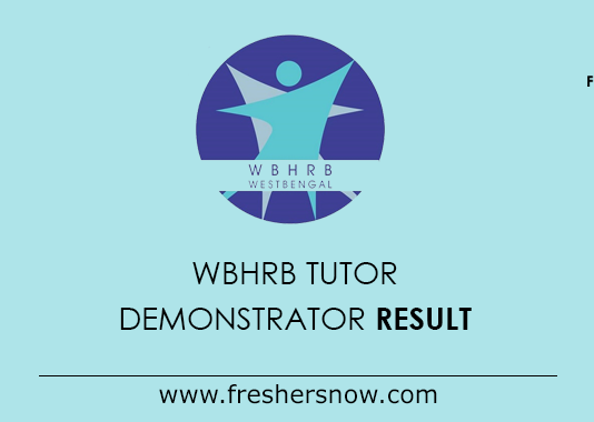 WBHRB Tutor Demonstrator Result 2019