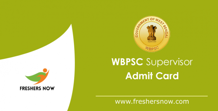 WBPSC Supervisor Admit Card