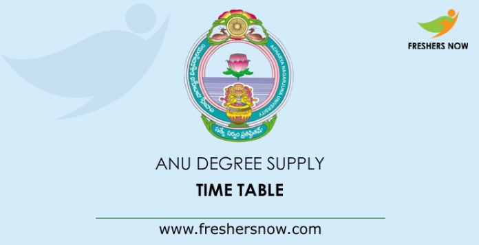 ANU-Degree-Supply-Time-Table