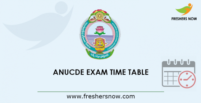 ANUCDE Exam Time Table