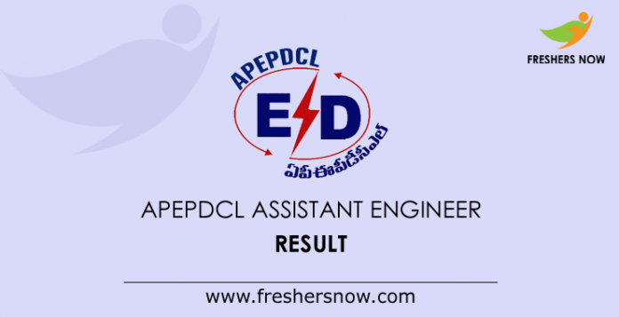 APEPDCL Assistant Engineer Result 2019