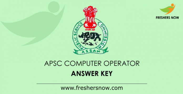 APSC Computer Operator Answer Key 2019
