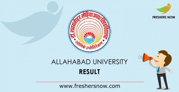 Result of the University of Allahabad