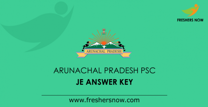 Arunachal Pradesh PSC JE Answer Key 2019