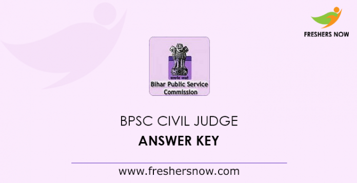 BPSC Civil Judge Answer Key 2019