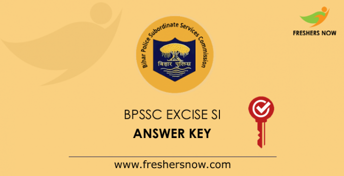 BPSSC Excise Sub Inspector Answer Key 2019