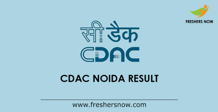 CDAC Noida Project Engineer, Project Manager Result 2019