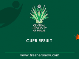 CUPB Result 2019