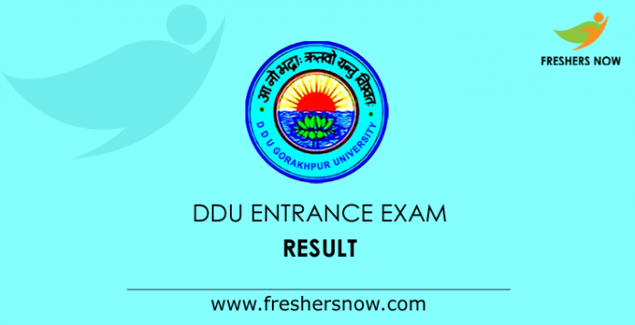 DDU Entrance Exam Result 2019 OUT | DDU UG Cut Off Marks, Merit List