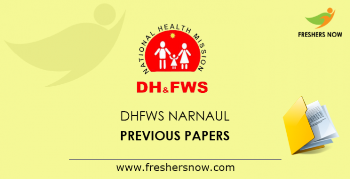 DHFWS Narnaul Previous Papers
