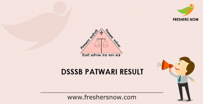 DSSSB Patwari Result