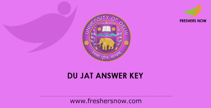DU JAT Answer Key 2019