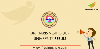 Dr. Harisingh Gour University Result 2019