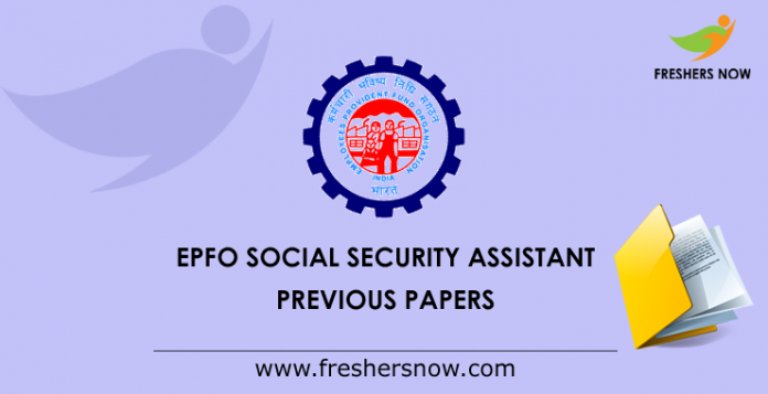 EPFO Social Security Assistant Previous Question Papers