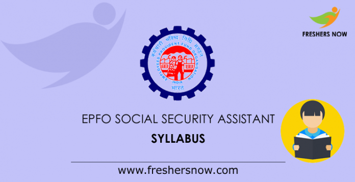 EPFO Social Security Assistant Syllabus 2019 PDF | SSA Exam