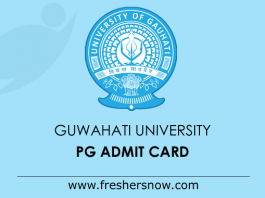 Gauhati University PG Admit Card 2019