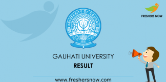Gauhati University Result 2019