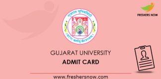 Gujarat University Admit Card
