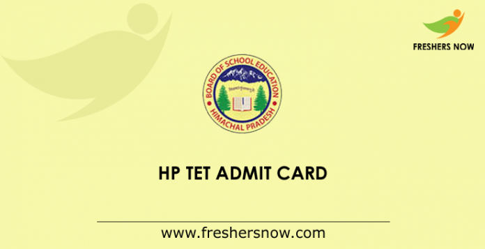 HP TET Admission Card