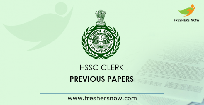 HSSC Clerk Previous Question Papers PDF | Haryana Clerk Old