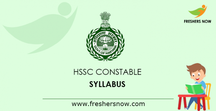 HSSC Constable Syllabus