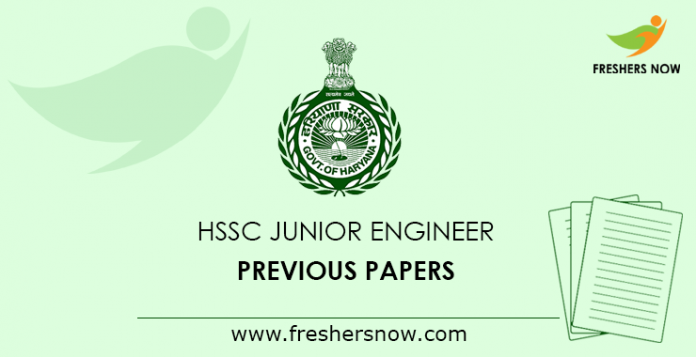 HSSC Junior Engineer Previous Papers