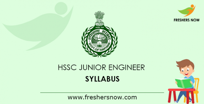 HSSC JE Syllabus 2019 PDF | Haryana Junior Engineer Exam Pattern