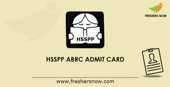 HSSPP-ABRC-Admit-Card