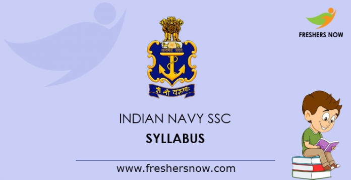 Indian Navy SSC Syllabus 2019