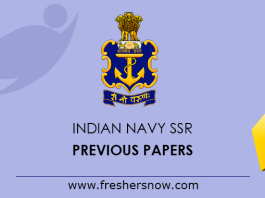 Indian Navy SSR Previous Papers