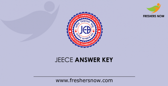 JEECE Answer Key 2019