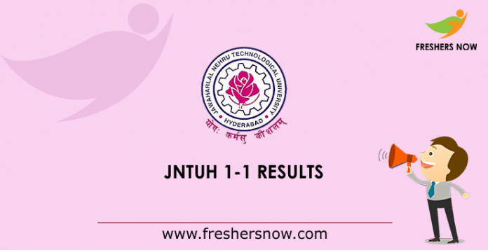 JNTUH B.Tech 1-1 Supply Results 2019
