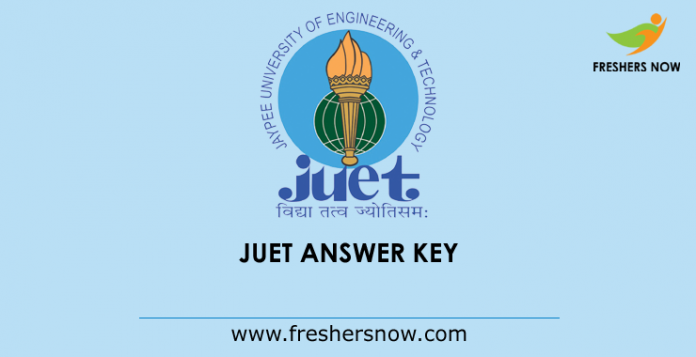 JUET Answer Key 2019