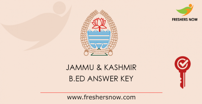 Jammu & Kashmir B.Ed Answer Key 2019