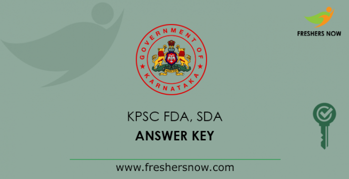 KPSC FDA SDA Answer Key 2019