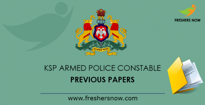 KSP Armed Police Constable Previous Papers
