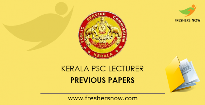 Kerala PSC Lecturer, Technician Previous Question Papers PDF