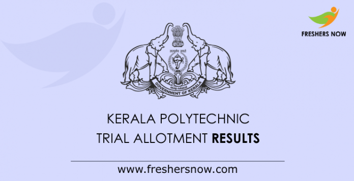 Kerala Polytechnic Trial Allotment Results